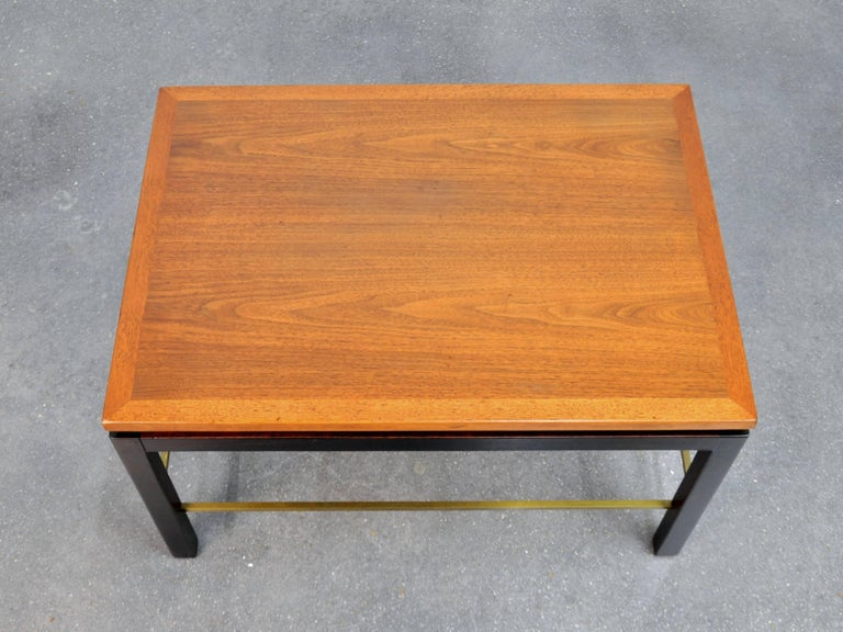 Mid-20th Century Ed Wormley for Dunbar Mahogany and Brass Side Table For Sale