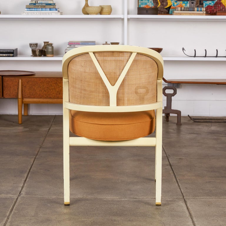 Edward Wormley for Dunbar Y-Back Captain Chair In Good Condition In Los Angeles, CA
