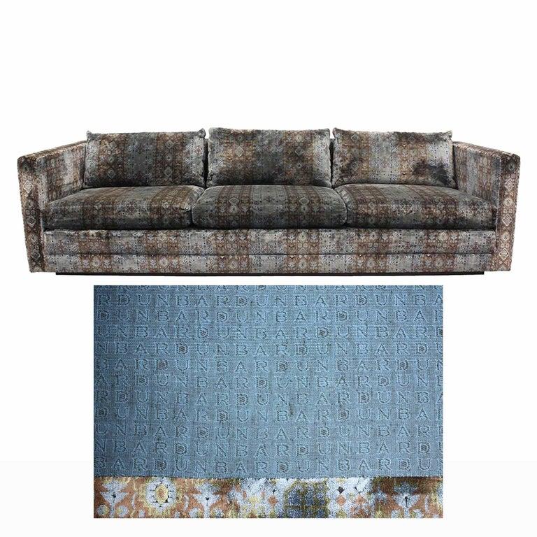 Post-Modern Edward Wormley Four-Seat Midcentury Tuxedo Sofa For Sale