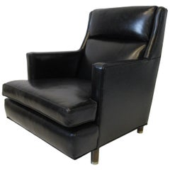 Edward Wormley Leather Lounge Chair for Dunbar