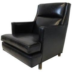 Edward Wormley Leather Lounge Chair for Dunbar