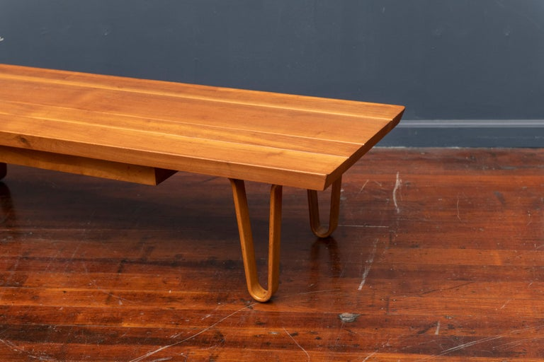 Walnut Edward Wormley Long John Bench/Coffee Table for Dunbar For Sale
