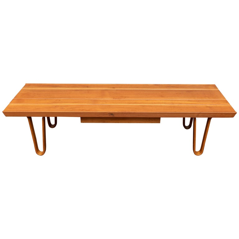 Edward Wormley Long John Bench/Coffee Table for Dunbar For Sale