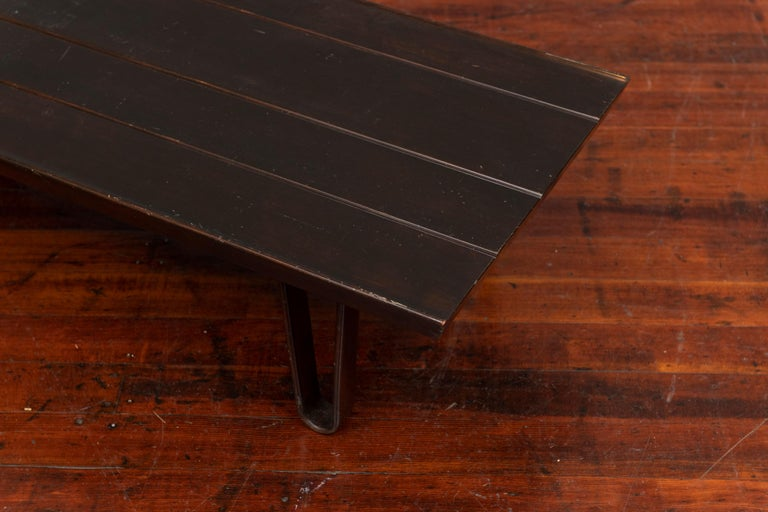 Edward Wormley Long John Bench for Dunbar In Good Condition For Sale In San Francisco, CA