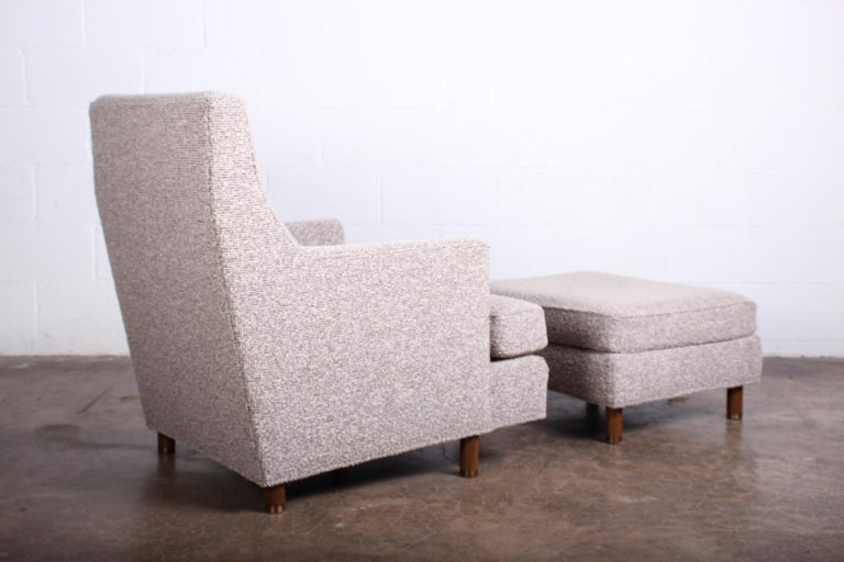 Edward Wormley Lounge Chair and Ottoman For Sale 5