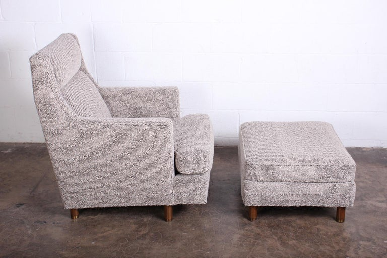 A lounge chair and ottoman designed by Edward Wormley for Dunbar.