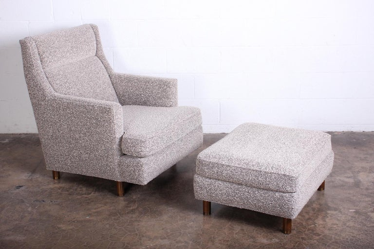 Edward Wormley Lounge Chair and Ottoman In Good Condition For Sale In Dallas, TX