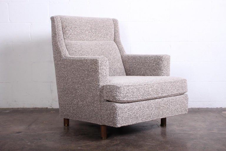 Edward Wormley Lounge Chair and Ottoman For Sale 2