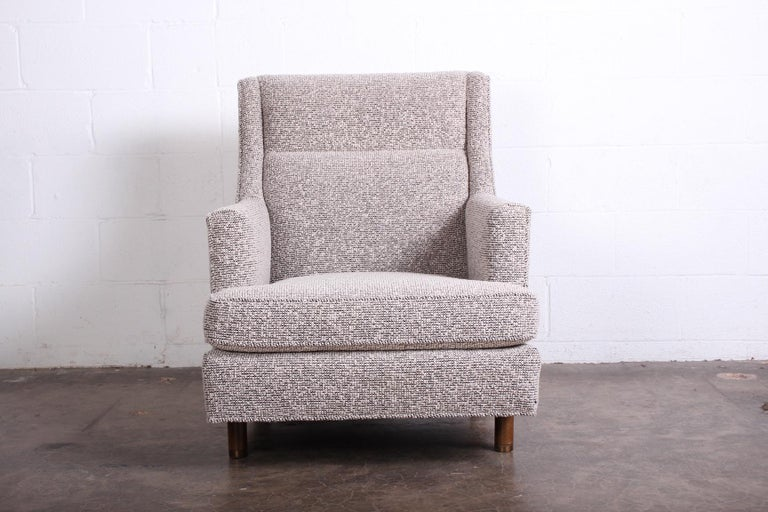 Edward Wormley Lounge Chair and Ottoman For Sale 3