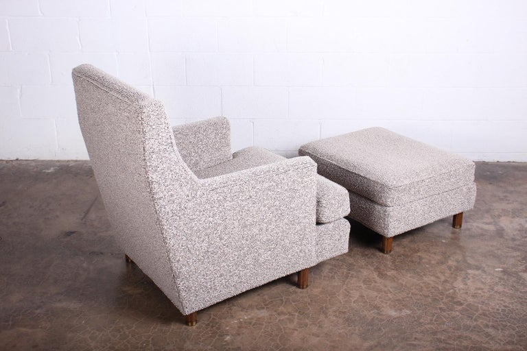 Edward Wormley Lounge Chair and Ottoman For Sale 4