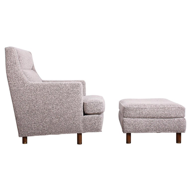 Edward Wormley Lounge Chair and Ottoman For Sale