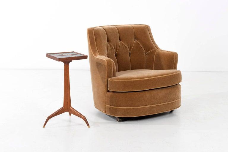 Fabric Edward Wormley Lounge Chair for Dunbar For Sale