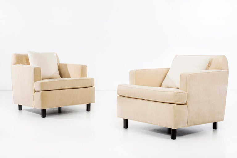 Edward Wormley Pair of Lounge Chairs For Sale 2