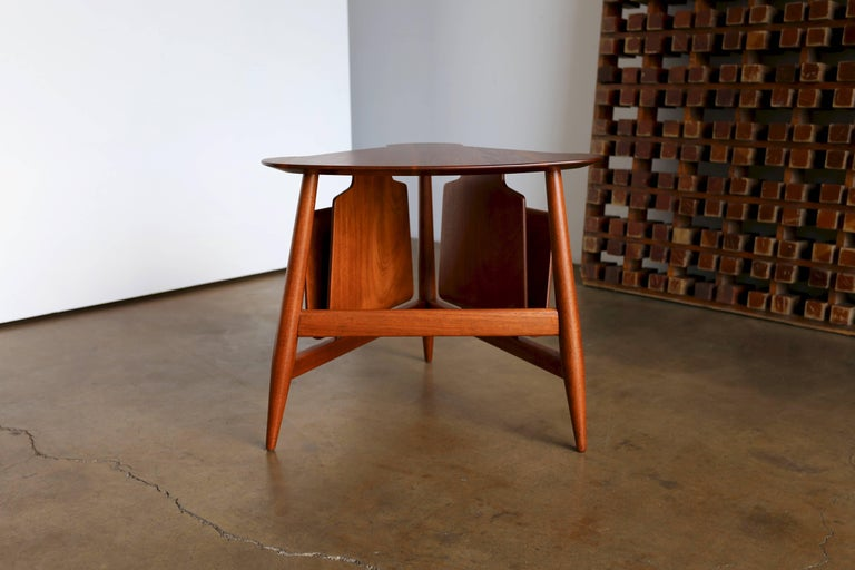 Patinated Edward Wormley Magazine Table Model 5313 For Sale