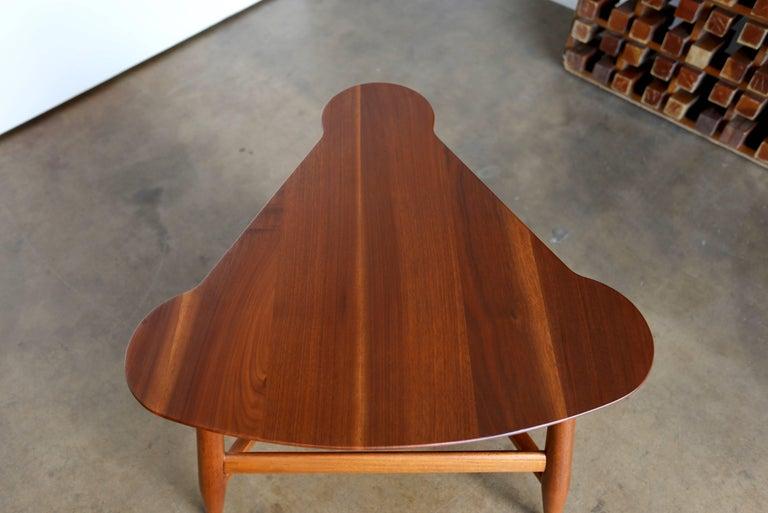 Walnut Edward Wormley Magazine Table Model 5313 For Sale
