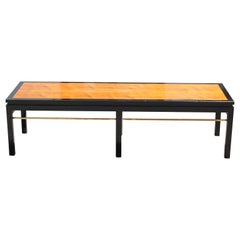 Edward Wormley Modern Rectangular Dunbar Coffee Table Brass Accents