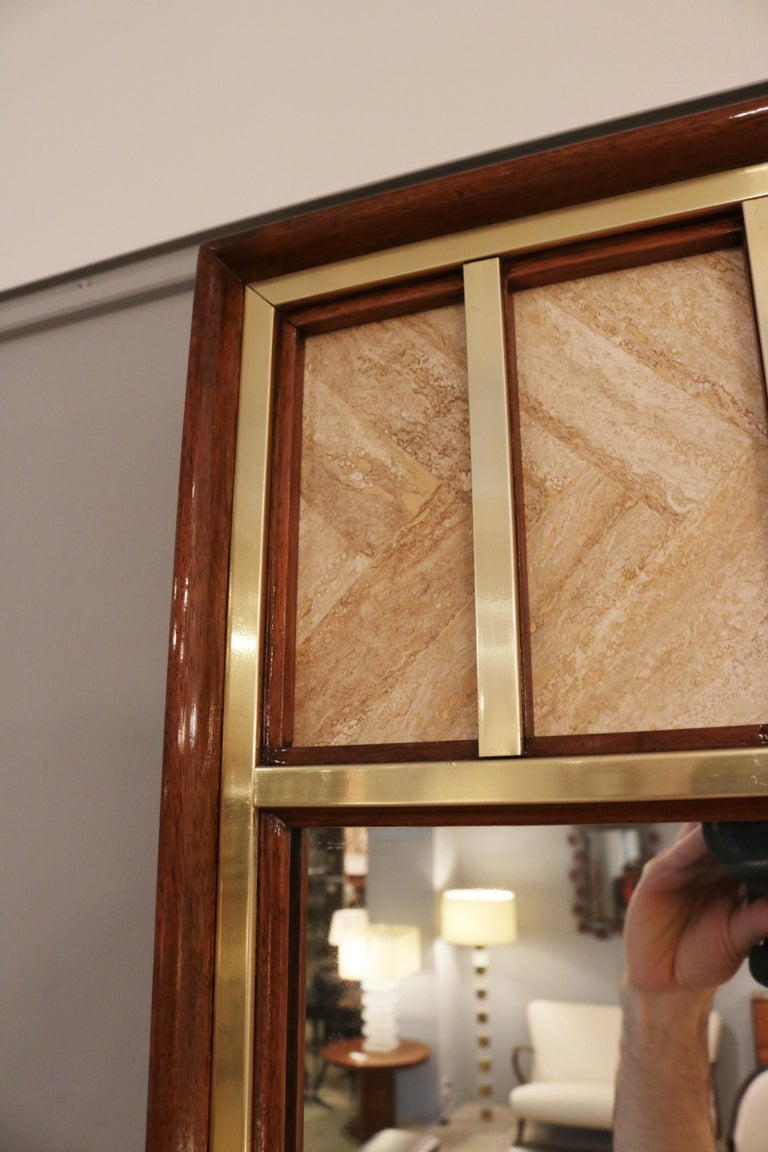 Mid-Century Modern Edward Wormley Modernist Wall Mirror For Sale