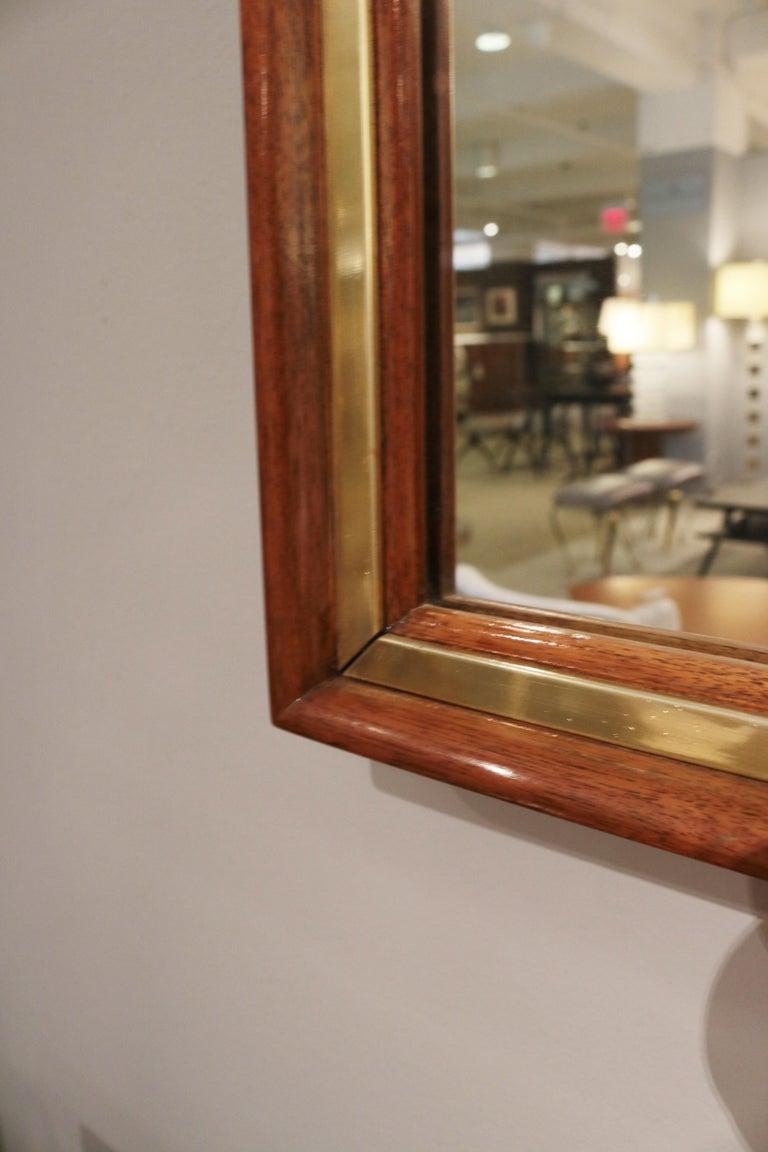 American Edward Wormley Modernist Wall Mirror For Sale