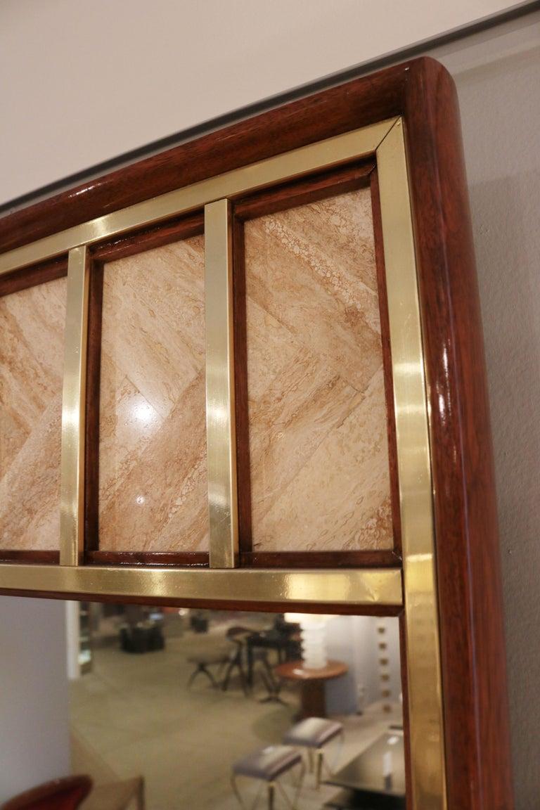 Mid-20th Century Edward Wormley Modernist Wall Mirror For Sale