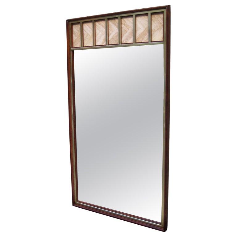 Edward Wormley Modernist Wall Mirror For Sale