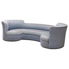 Edward Wormley 'Oasis' Sofa for Dunbar in Light Blue Fabric