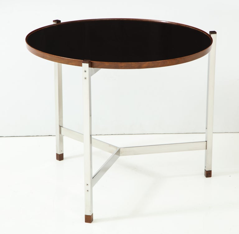 Mid-Century Modern Edward Wormley Occasional Table in Chrome and Micarta For Sale