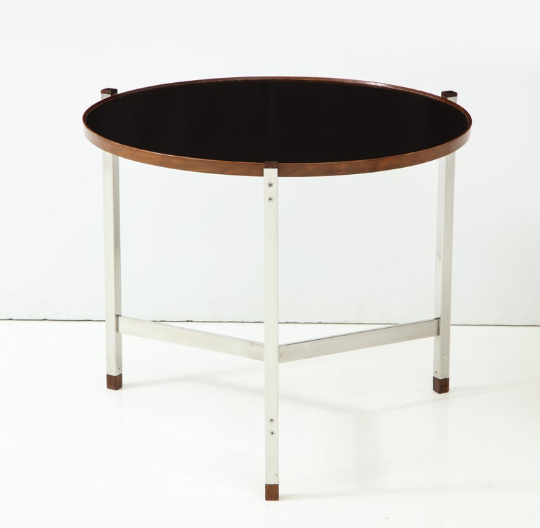 American Edward Wormley Occasional Table in Chrome and Micarta For Sale