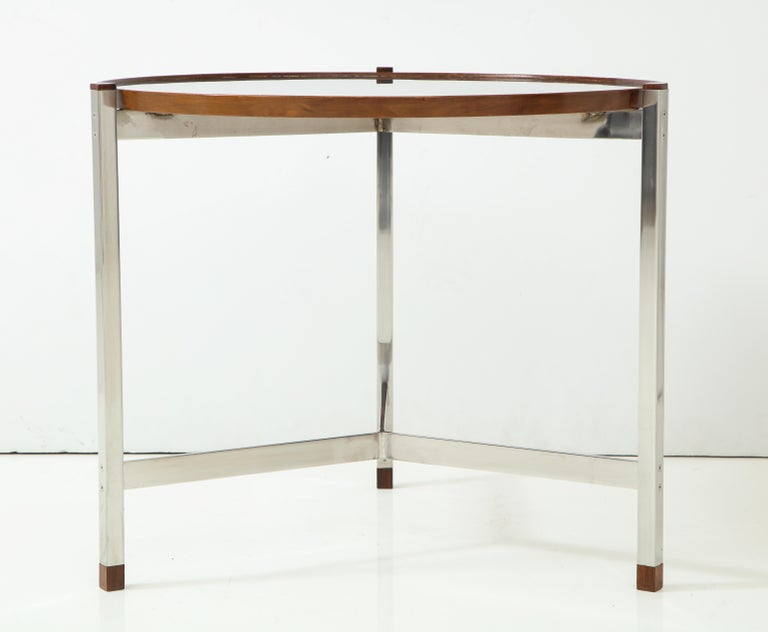 Edward Wormley Occasional Table in Chrome and Micarta In Good Condition For Sale In New York, NY