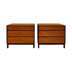 Edward Wormley Pair of Bedside Tables/Chests in Teak and Mahogany 1950s 'Signed'