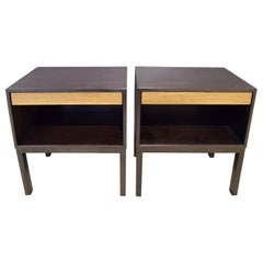 Edward Wormley Pair of Bedside Tables in Mahogany 1940s 'Signed'