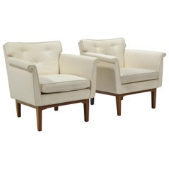 Edward Wormley Pair of Lounge Chairs by Dunbar