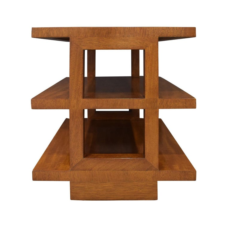 American Edward Wormley Pair of Rare 3-Tier End Tables 1944 'Signed'