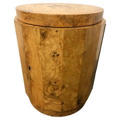 Edward Wormley Pedestal Bar Cabinet in Olive Burl model 6302D