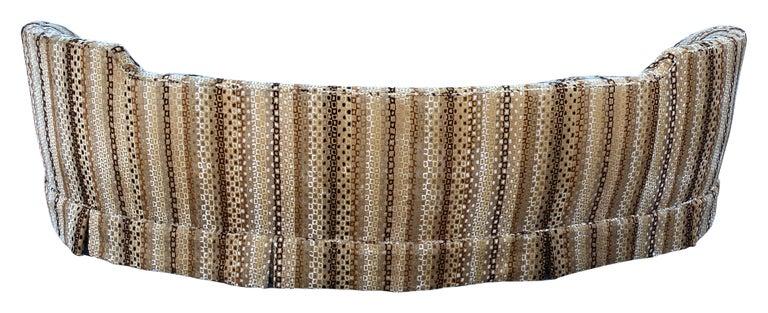 American Edward Wormley, Rare Curved Sofa, Original Fabric, Dunbar, America, 1950s For Sale