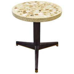 Edward Wormley Rare Occasional Table with Marble Set in Terrazzo 1959 'Signed'
