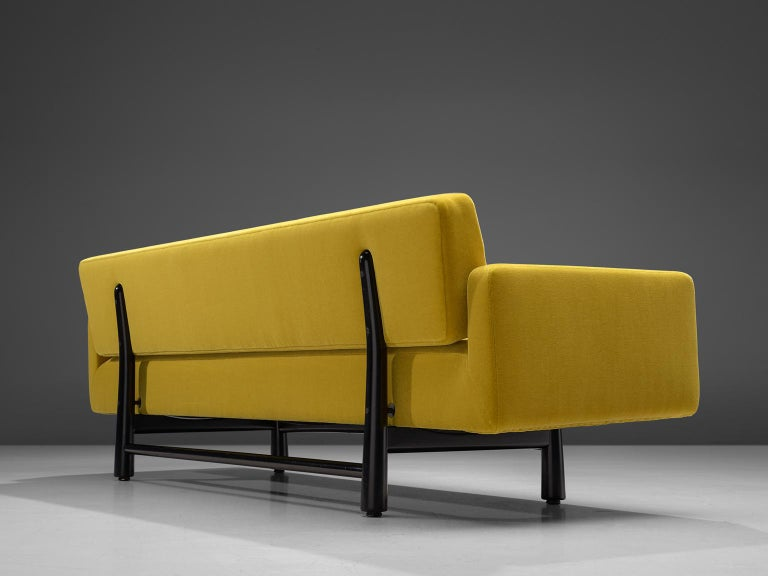 Mid-20th Century Edward Wormley Reupholstered Yellow Sofa Model 5316 For Sale