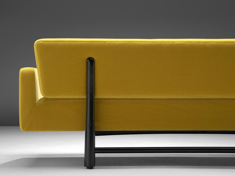 Edward Wormley Reupholstered Yellow Sofa Model 5316 For Sale 1