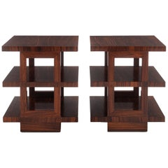 Edward Wormley Rosewood Tri-Tier Side Tables