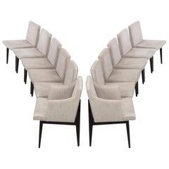 Edward Wormley Set of 12 Bracket Back Dining Chairs