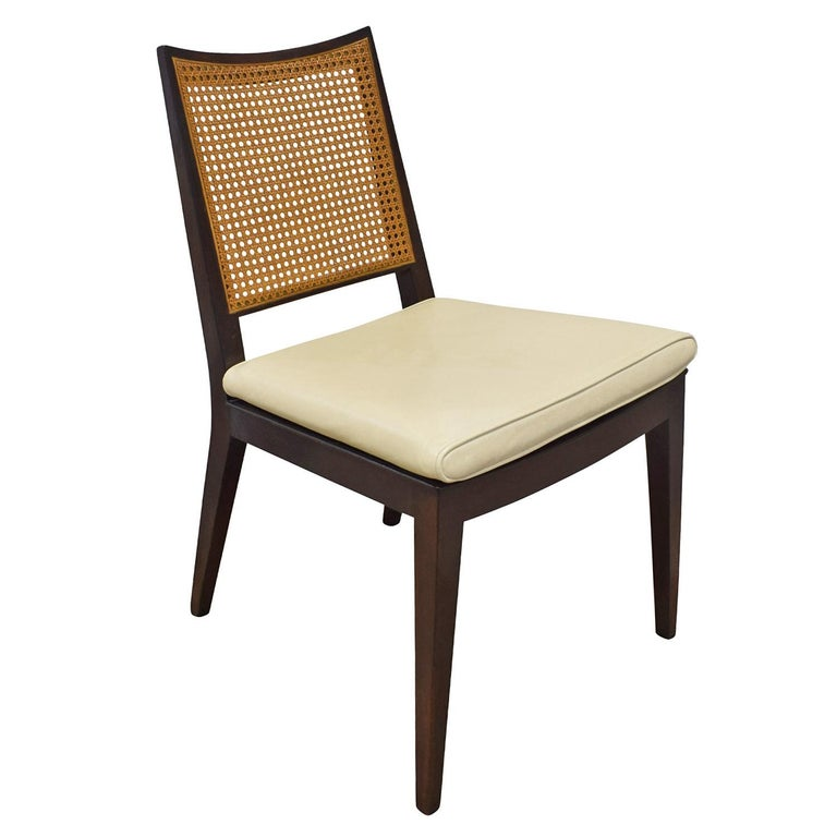 Mid-Century Modern Edward Wormley Set of 4 Dining/Game Chairs in Mahogany 1963 'Signed' For Sale