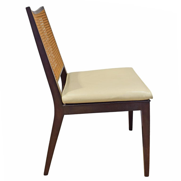 American Edward Wormley Set of 4 Dining/Game Chairs in Mahogany 1963 'Signed' For Sale
