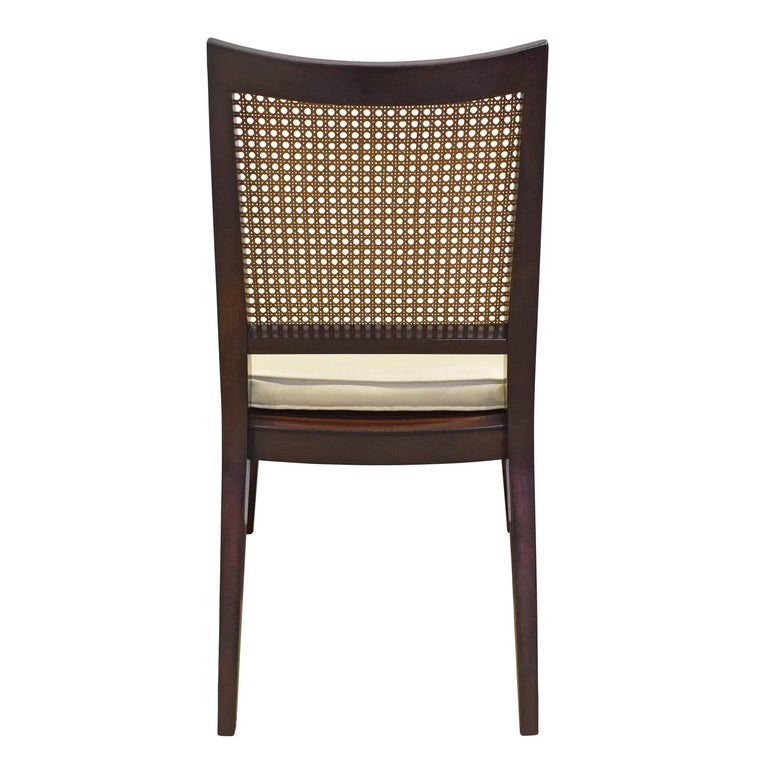 Hand-Crafted Edward Wormley Set of 4 Dining/Game Chairs in Mahogany 1963 'Signed' For Sale