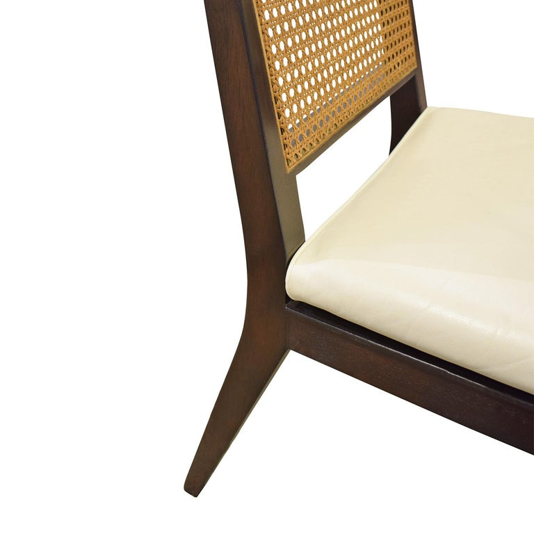 Edward Wormley Set of 4 Dining/Game Chairs in Mahogany 1963 'Signed' In Excellent Condition For Sale In New York, NY