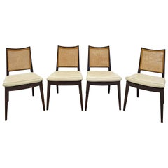 Edward Wormley Set of 4 Dining/Game Chairs in Mahogany 1963 'Signed'