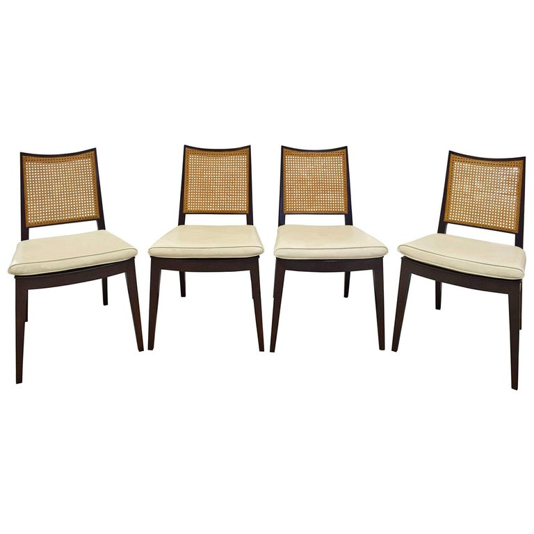 Edward Wormley Set of 4 Dining/Game Chairs in Mahogany 1963 'Signed' For Sale