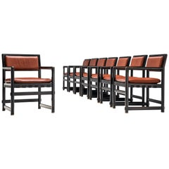 Edward Wormley Set of Eight Dining Chairs Model 5762