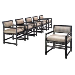 Edward Wormley Set of Six Dining Chairs for Mobilier Universel