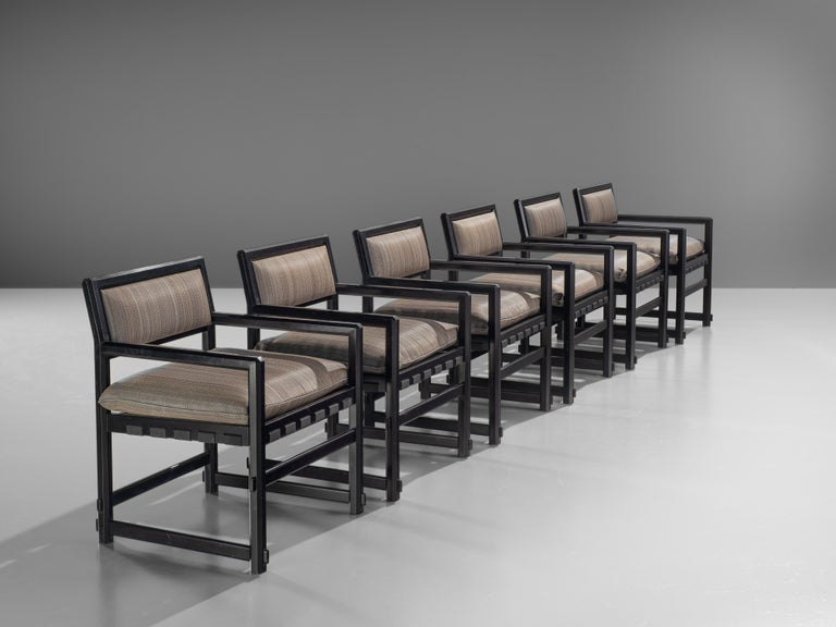 Mid-Century Modern Edward Wormley Set of Six Dining Chairs for Mobiel Universel For Sale