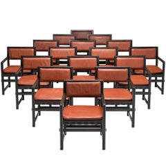 Edward Wormley Set of Sixteen Dining Chairs for Mobilier Universel