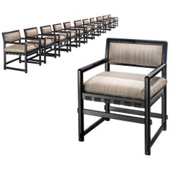 Edward Wormley Set of Twelve Dining Chairs for Mobilier Universel